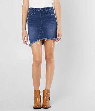 Flying Monkey Denim Stretch Mini Skirt