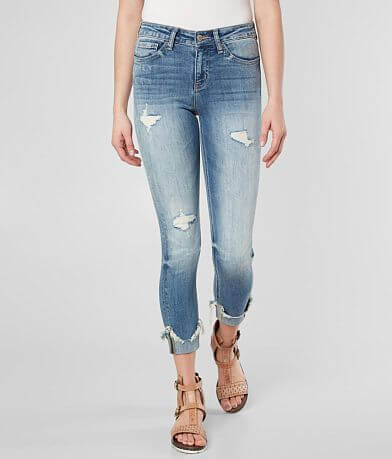 Flying Monkey Mid-Rise Ankle Skinny Cuffed Jean