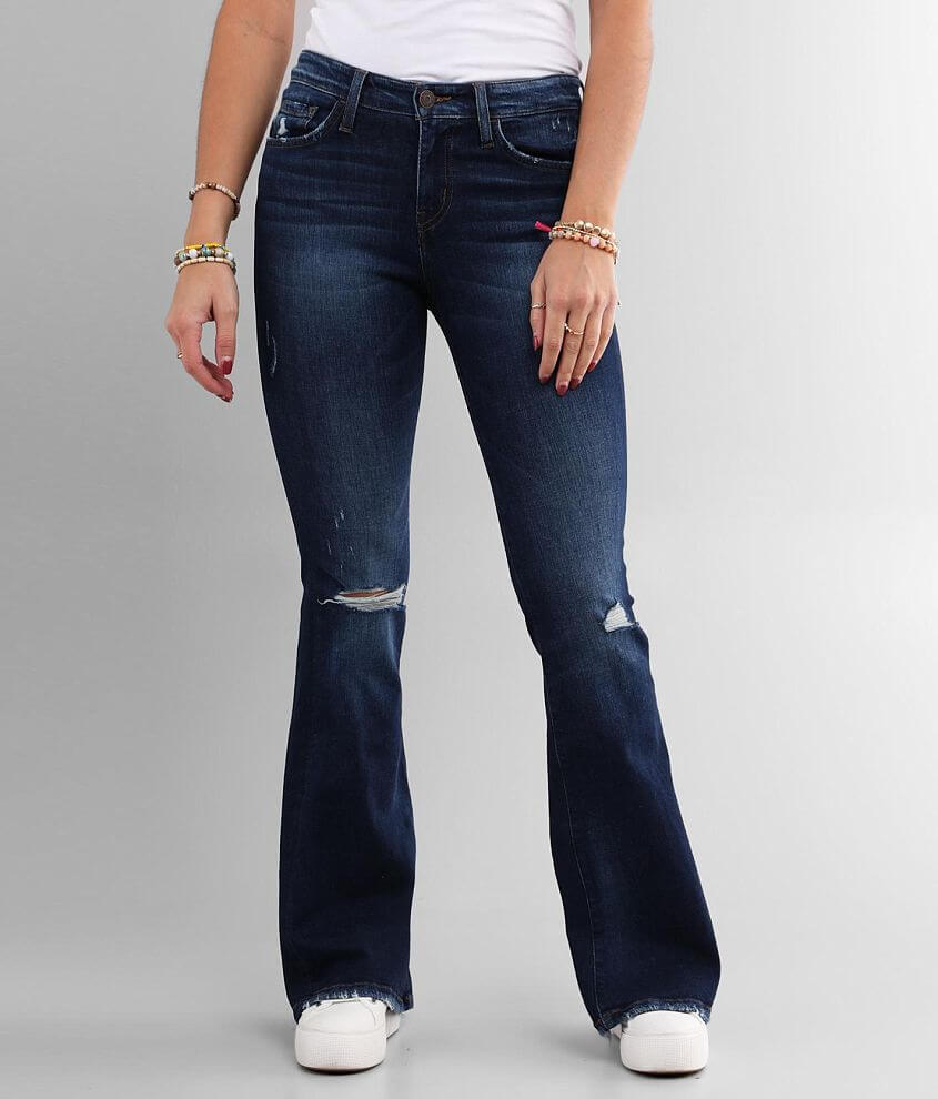 Flying Monkey Mid-Rise Flare Stretch Jean front view