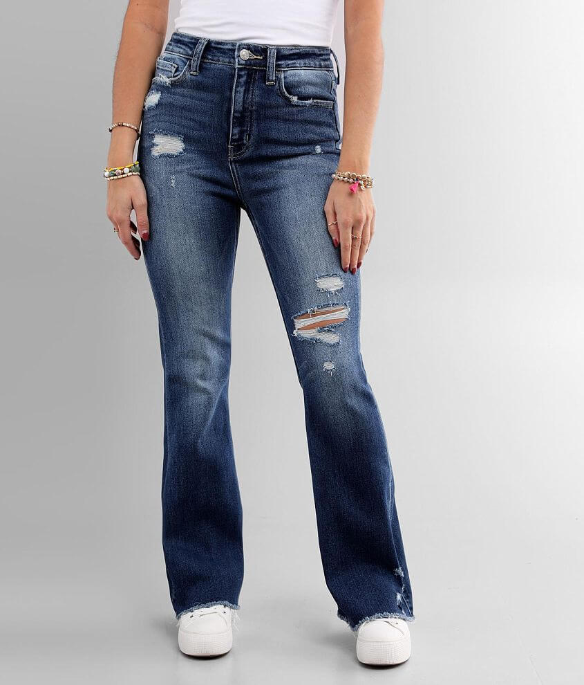 Flying Monkey Ultra High Rise Flare Stretch Jean front view