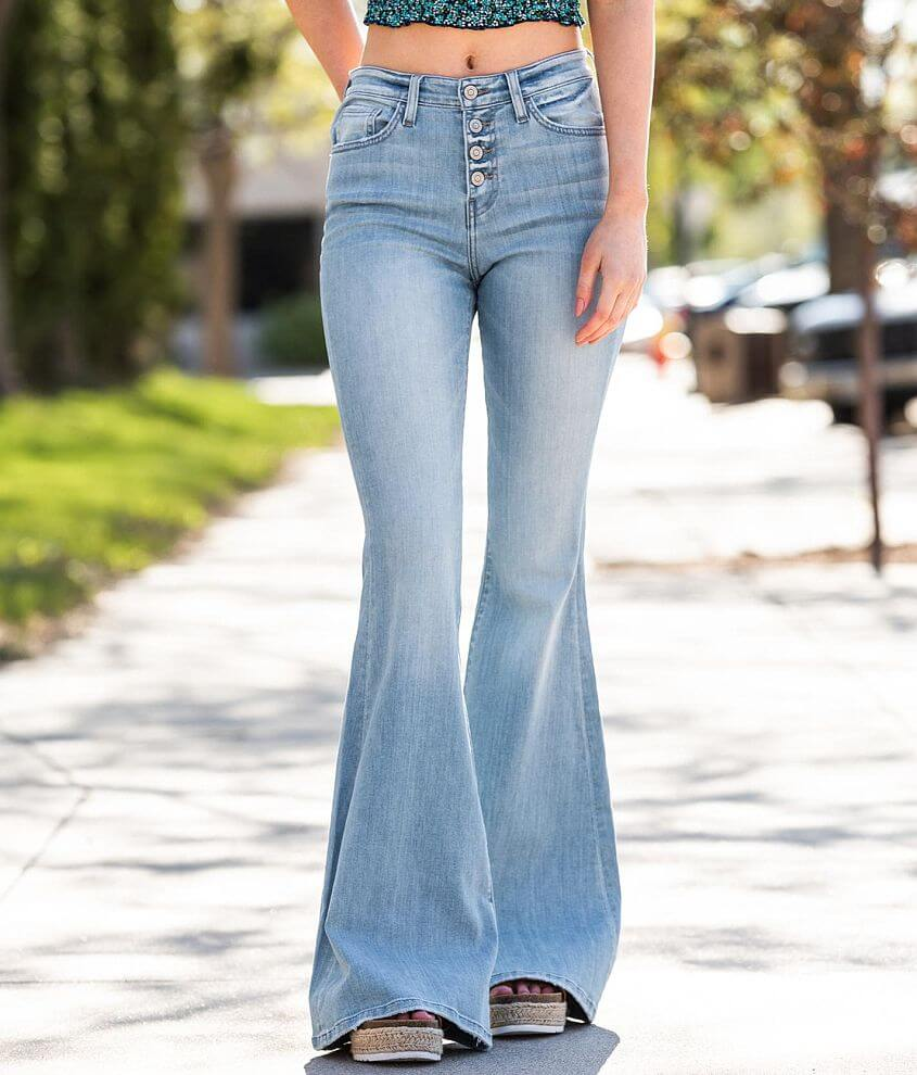 Flying Monkey High Rise Super Flare Stretch Jean front view