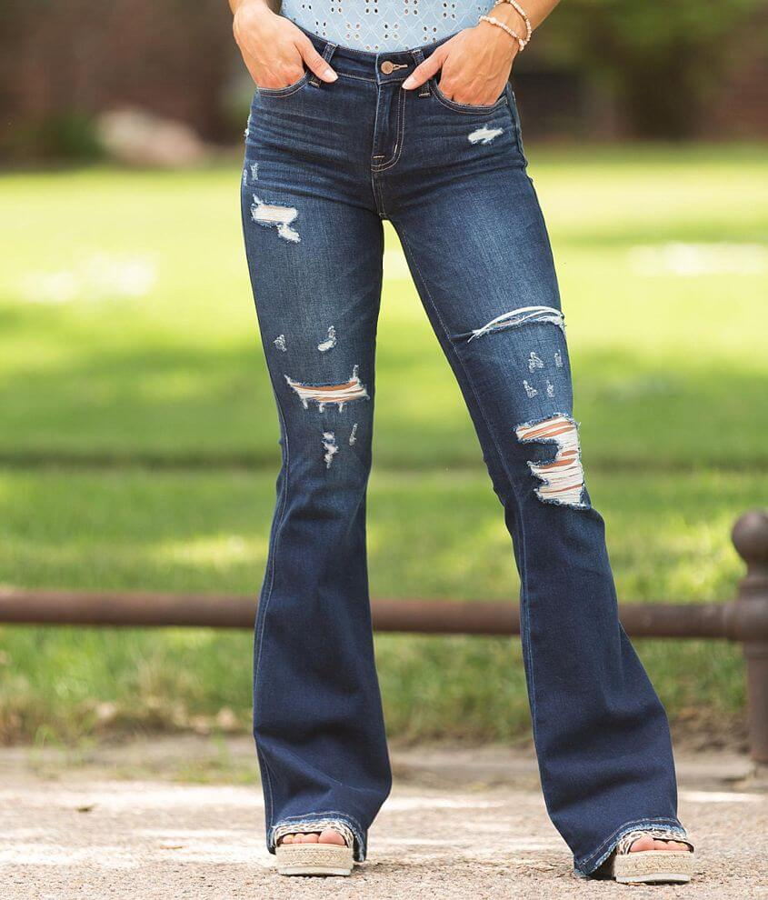 Flying Monkey Mid-Rise Super Flare Stretch Jean front view