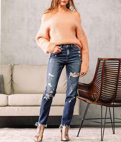 Flying Monkey Mid-Rise Slim Straight Stretch Jean