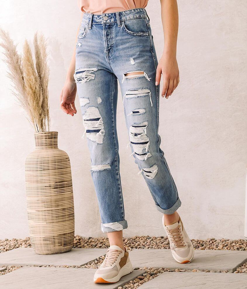 Flying Monkey Ultra High Rise Taper Jean front view
