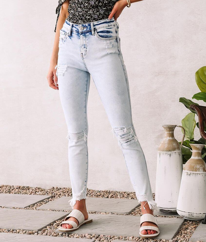 Flying Monkey High Rise Ankle Skinny Stretch Jean front view