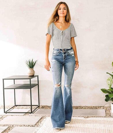 Flying Monkey Mid-Rise Super Flare Stretch Jean