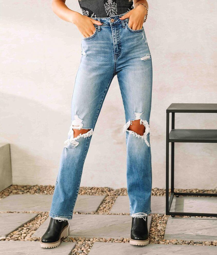 Flying Monkey Ultra High Rise Ankle Straight Jean front view