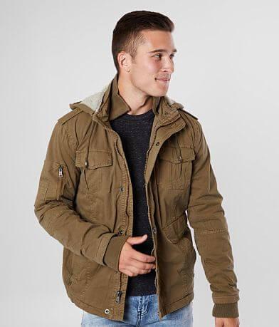 BKE Washed Canvas Hooded Jacket