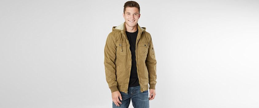 BKE Cotton Hooded Jacket front view