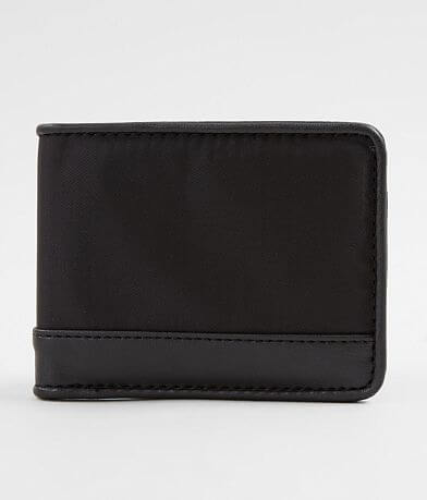 BKE Faux Leather Trim Wallet