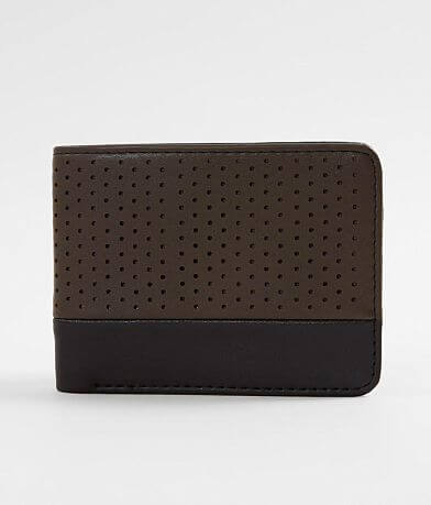 BKE Perforated Faux Leather Wallet