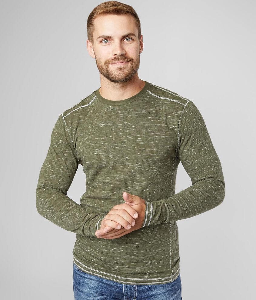 BKE Heathered Knit T-Shirt front view