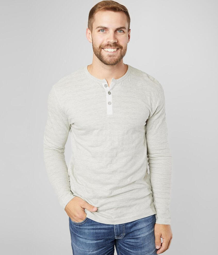 BKE Tonal Embroidered Henley front view