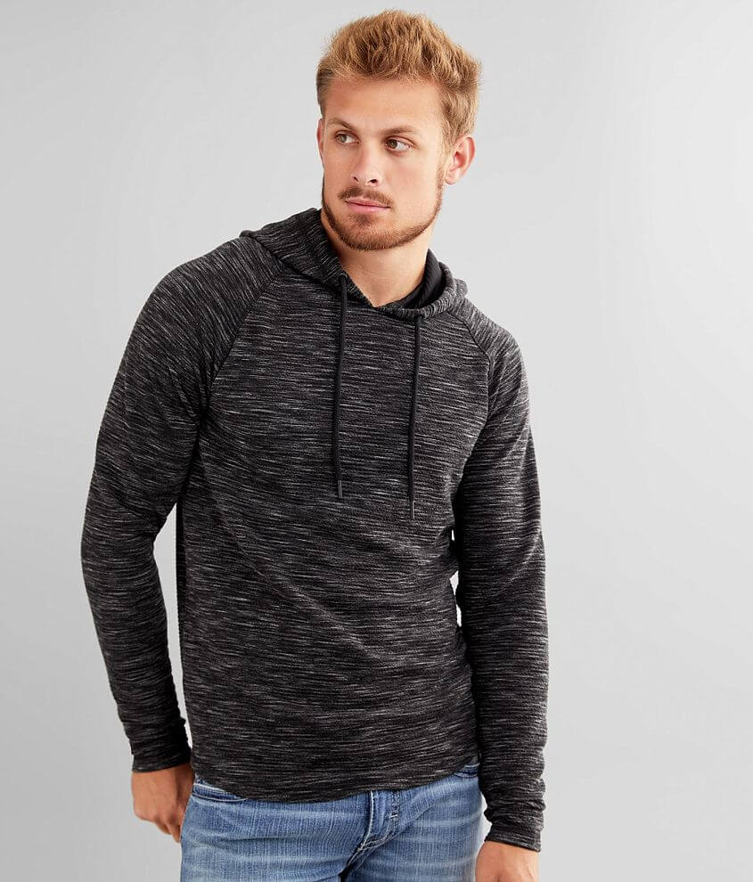 BKE Textured Knit Hoodie front view