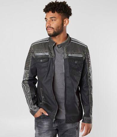 Buckle Black Coated Moto Jacket
