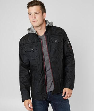 Buckle Black Coated Moto Jacket