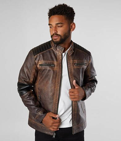 Buckle Black Moto Faux Leather Jacket