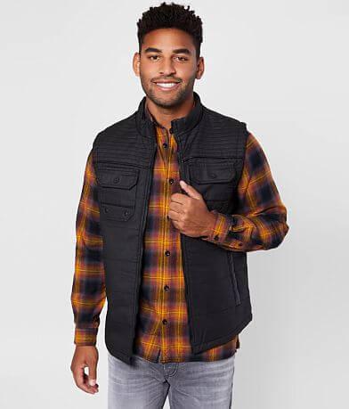Buckle Black Coated Moto Vest