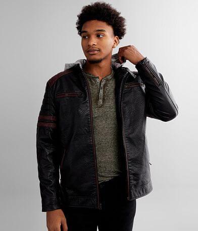 Buckle Black Moto Faux Leather Jacket