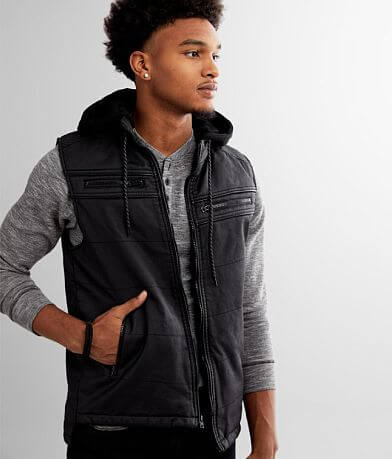 Buckle Black Coated Moto Vest