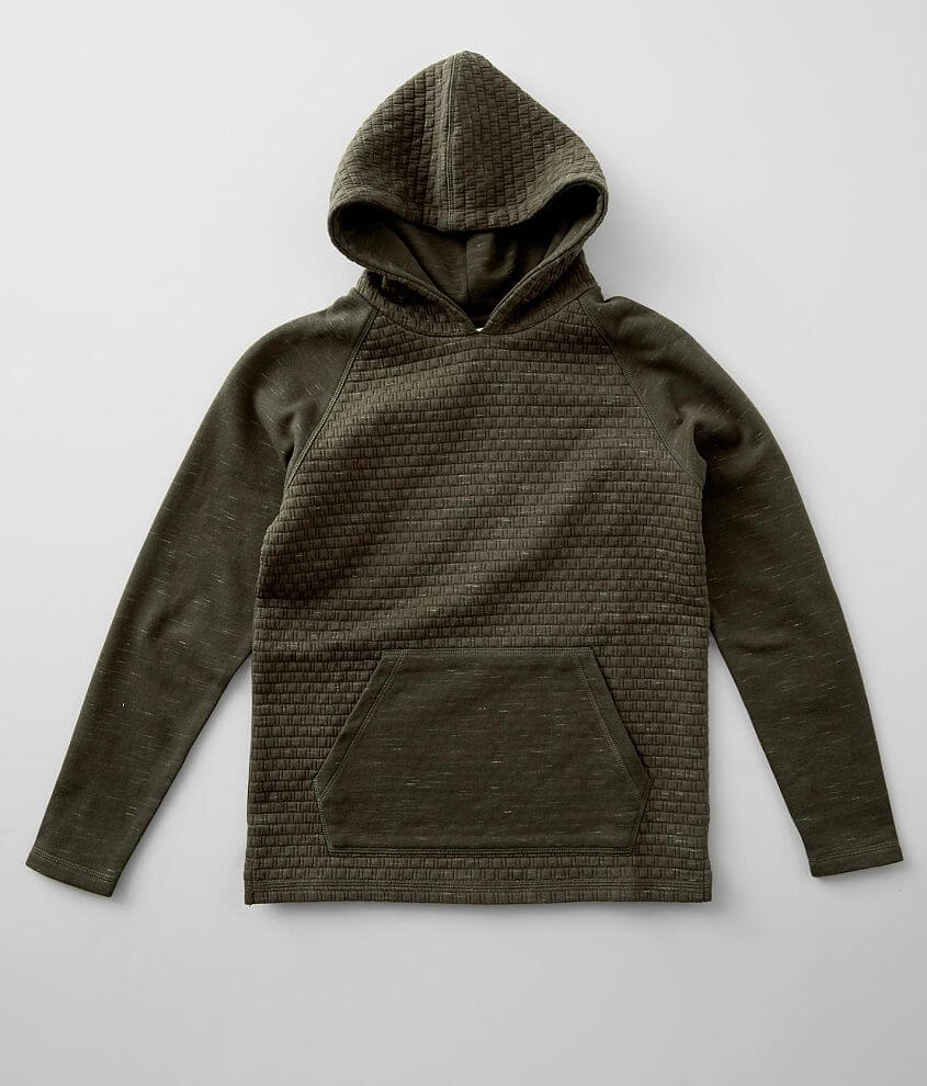Boys - BKE Quilted Drop Tail Hem Hoodie front view