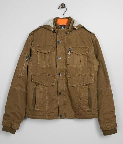 Boys - BKE Washed Canvas Hooded Jacket