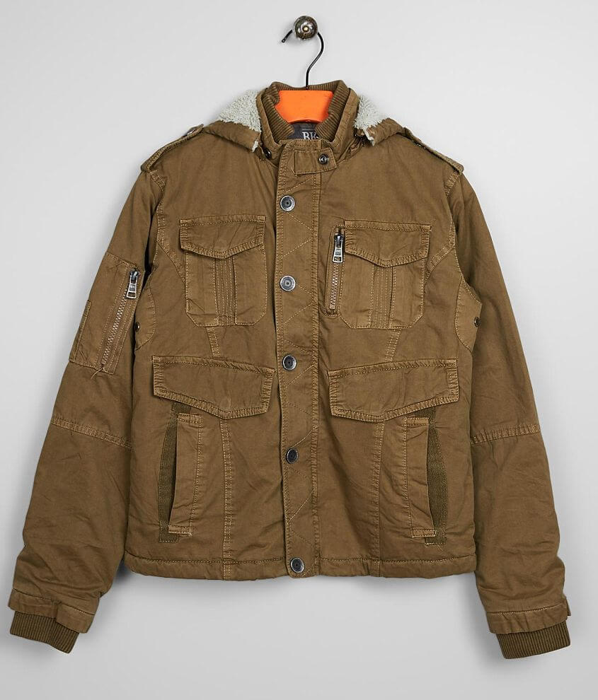 Boys - BKE Washed Canvas Hooded Jacket front view