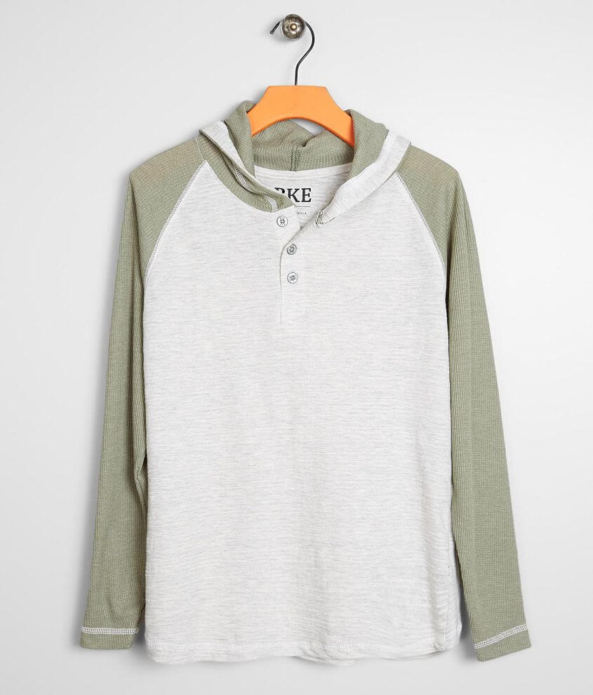 Boys - BKE Pieced Henley Hoodie front view