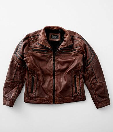 Boys - Buckle Black Faux Leather Moto Jacket