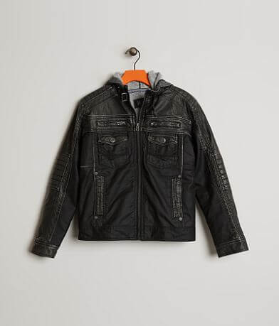 Boys - Buckle Black Aiden 2-Fer Jacket