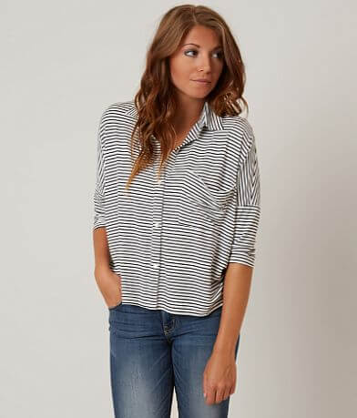 willow & root Striped Knit Shirt