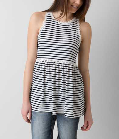 POL Striped Tank Top