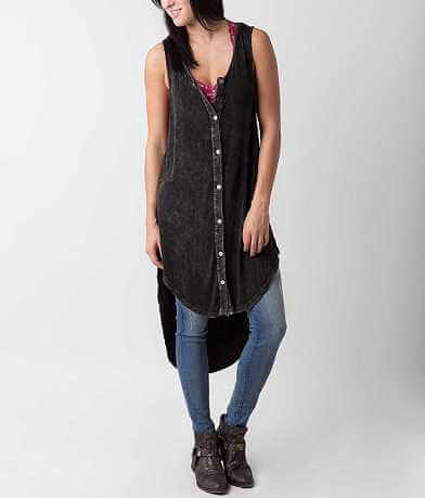 POL Washed Tunic Tank Top