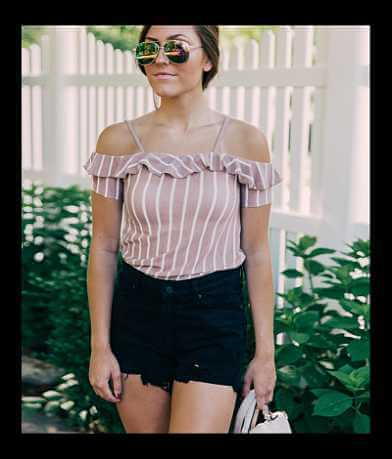 Poof Cold Shoulder Top