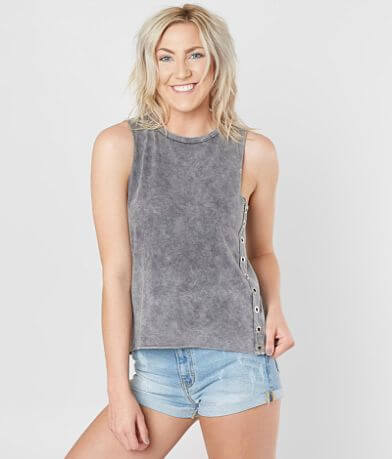 Modish Rebel Grommet Tank Top