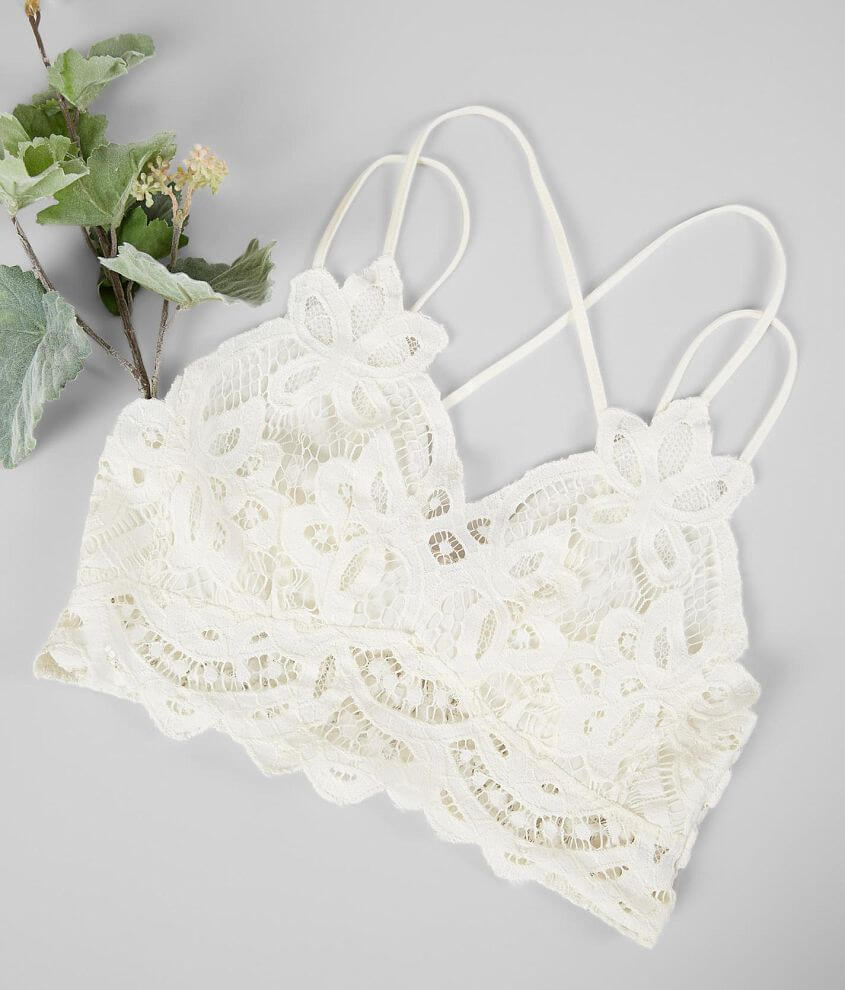 Willow & Root Floral Lace Bralette front view