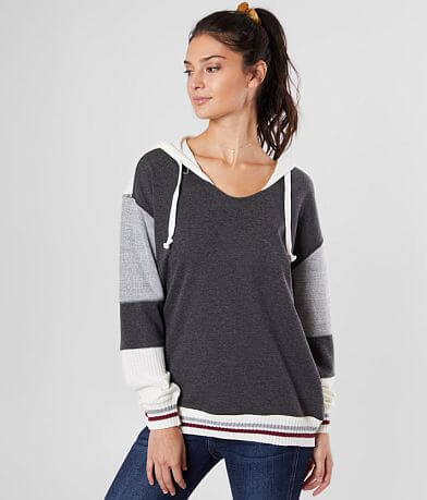 BKE Color Block Hooded Sweatshirt