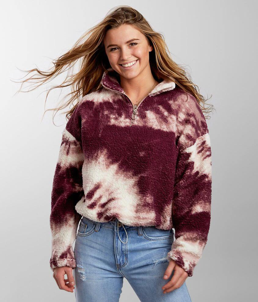 Modish Rebel Tie Dye Wubby Pullover front view
