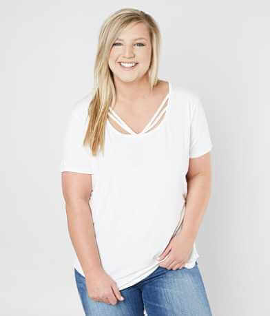 Daytrip Strappy T-Shirt - Plus Size Only