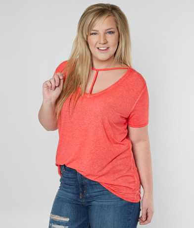 Daytrip Mineral Wash Top - Plus Size Only