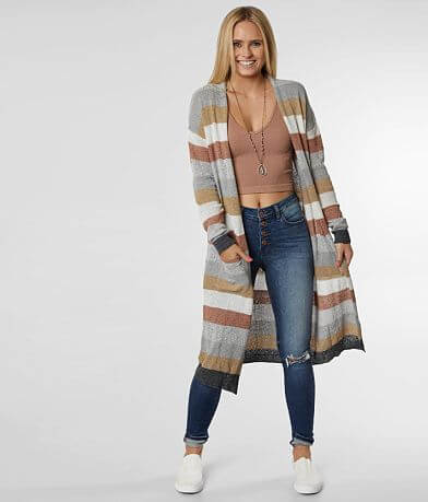 Daytrip Striped Duster Cardigan Sweater