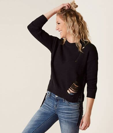 Poof Distressed Sweater