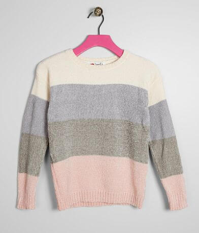 Girls - Poof Chenille Sweater