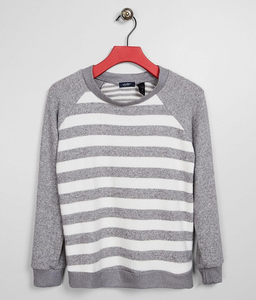 Girls - Daytrip Brushed Knit Striped Pullover front view