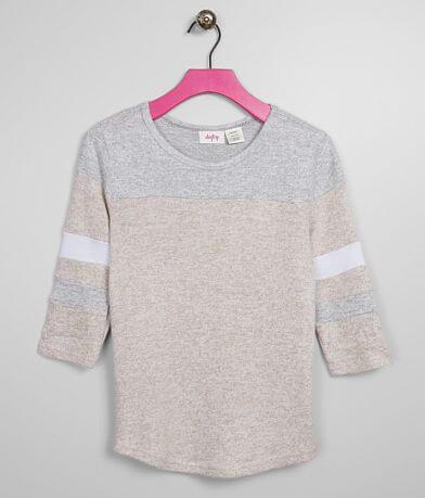 Girls - Daytrip Brushed Varsity Stripe Top