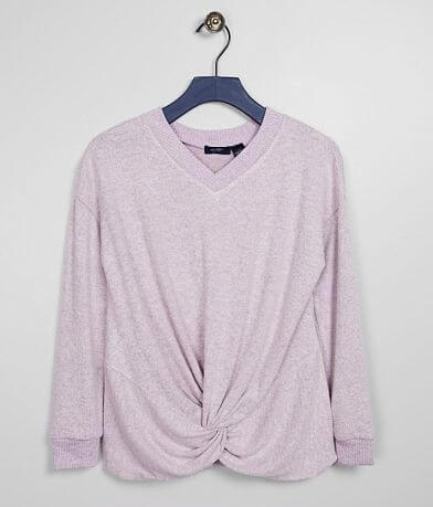 Girls - Daytrip Brushed Knit Twisted Hem Top