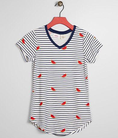 Girls - Daytrip Striped Watermelon Top