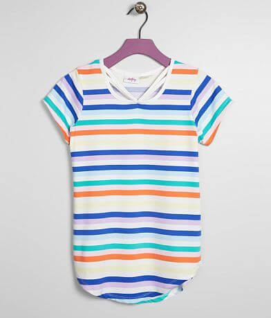 Girls - Daytrip Striped Scoop Neck Top