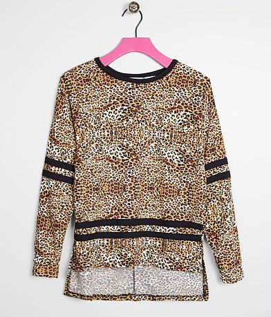 Girls - Daytrip Animal Print Drop Shoulder Top
