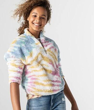 Girls - BKE Tie Dye Wubby Pullover